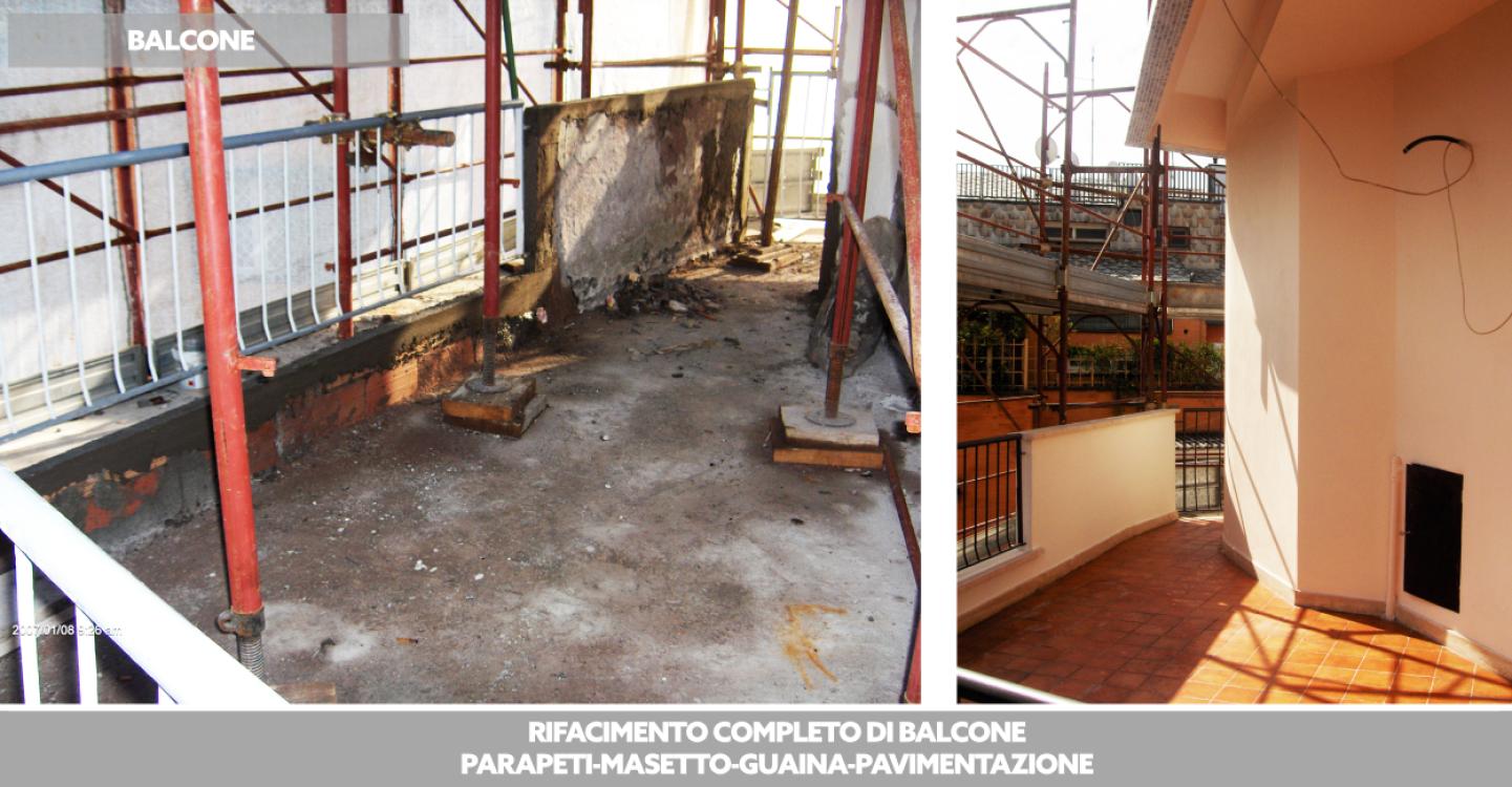 Ristrutturazione e costruzione balconi e terrazzi - Costruzioni Roma SRL