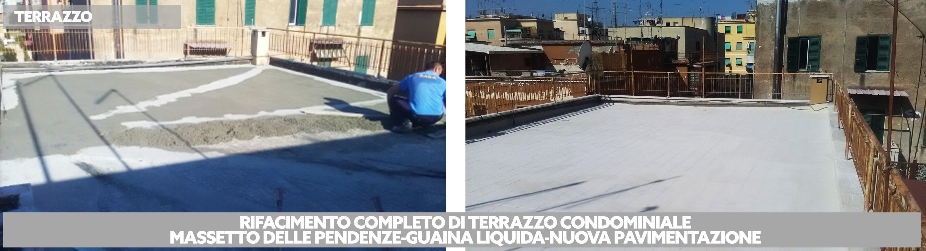 Rifacimento tetto condominiale Roma