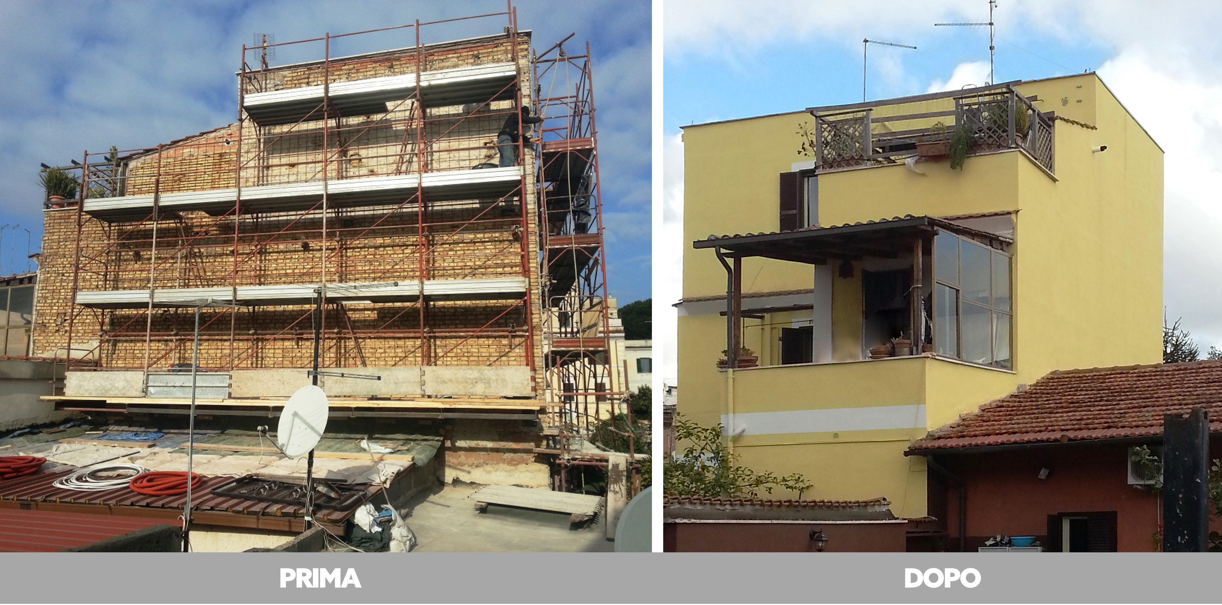 Rifacimento intonaci e tinteggiatura nel quartiere Pigneto, Roma