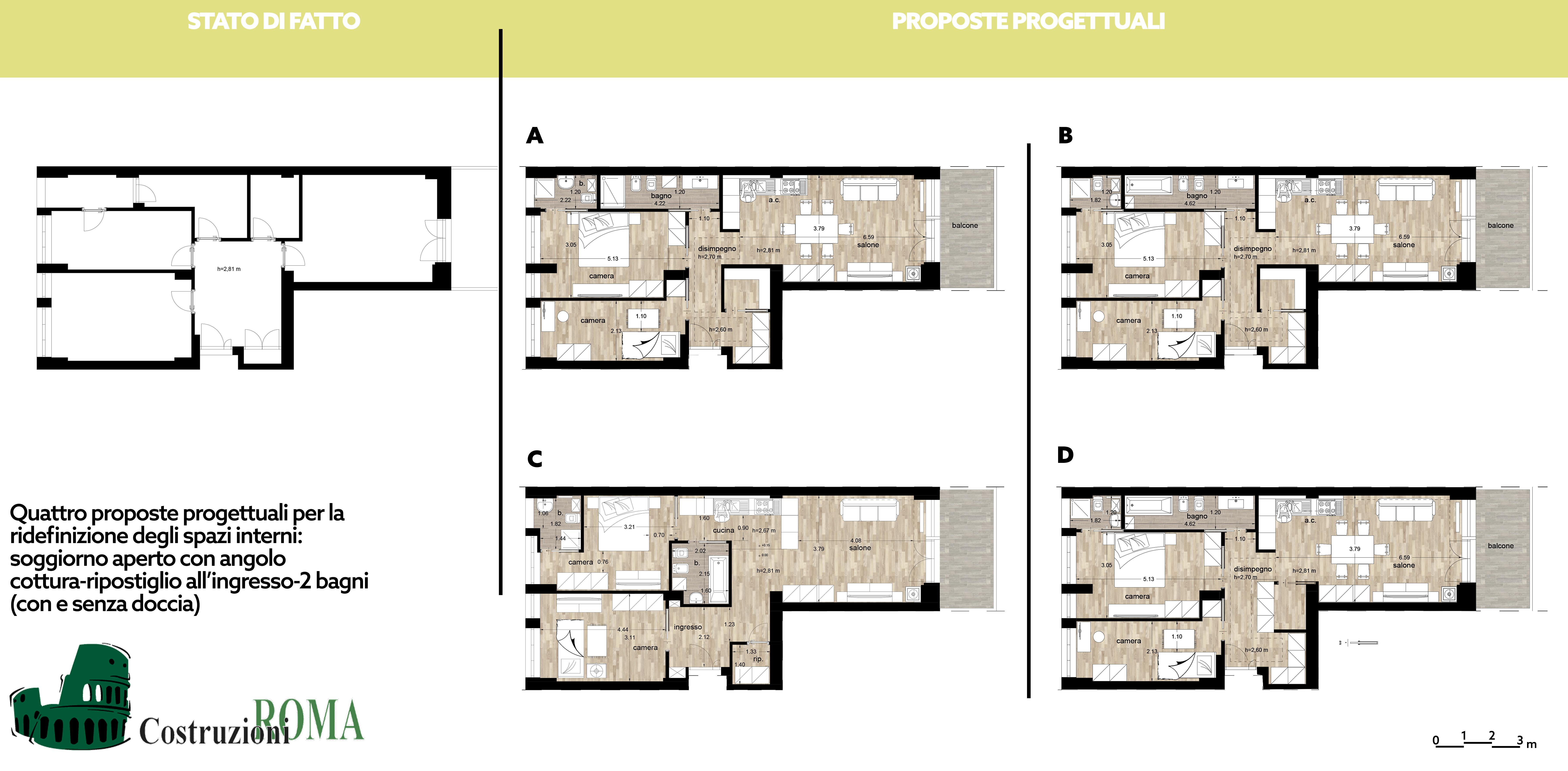 Progetto ristrutturazione casa nel centro storico roma for Esempi di ristrutturazione appartamento