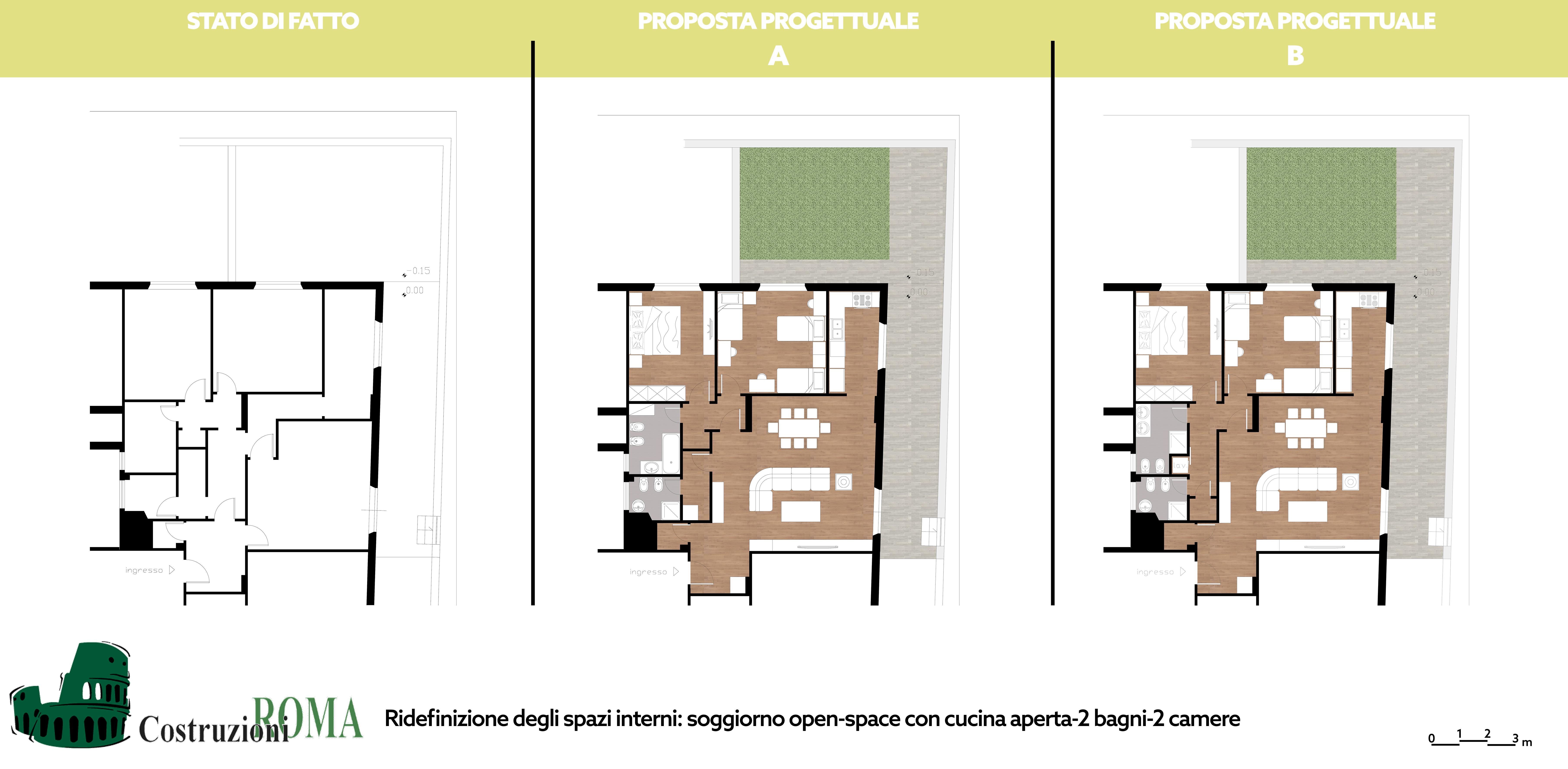 Progetto ristrutturazione casa Nomentano, Roma