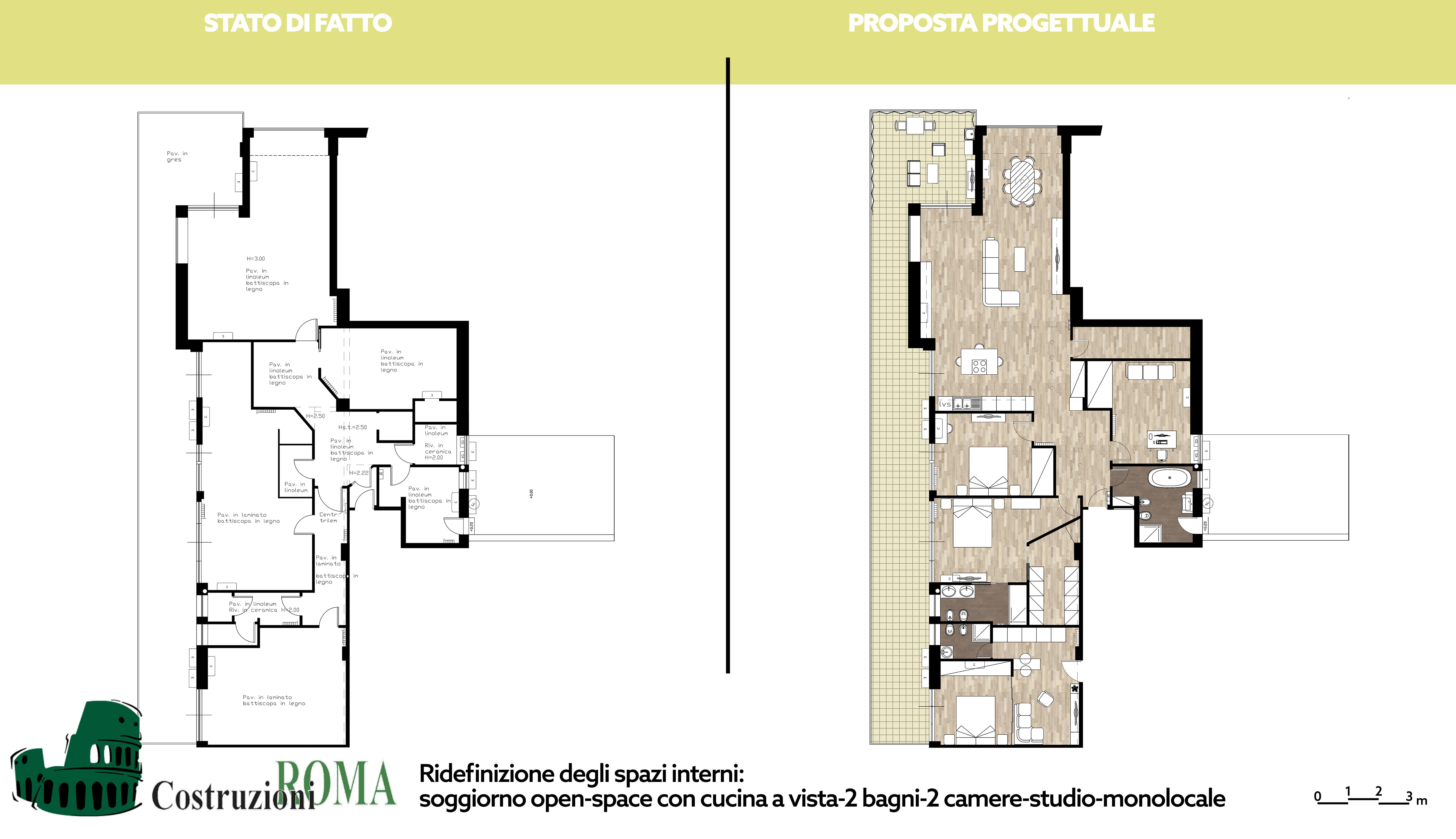 Progetto ristrutturazione casa a Ostia